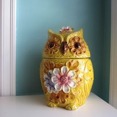 Your place to buy and sell all things handmade Owl Cookies, Cute Cookies, Cookies Et Biscuits, Antique Cookie Jars, Owl Kitchen, Owl Quilts, Felt Owls, Vintage Cookies, Vintage Owl