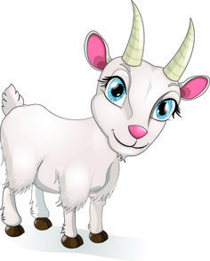 Vector lovely goats graphics
