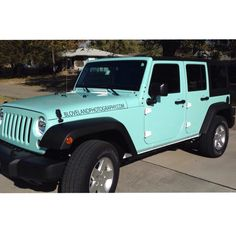 Www.BLovelandPhotography.com has a new turquoise blue jeep. Cute jeep hipster cool cars Tiffany blue girl car unique jeep girly jeep wrapped custom