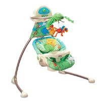 Great article on The Fisher Price Ocean Wonders Cradle Swing (or any of their other cradle swings). Love that this has white noise built in (although may not be loud enough) and swings nice and fast - a necessity for fussy babies.