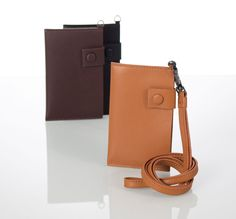 liberosystem Card Wallet Detachable necklace type External Snap lock type   #leather, #note, #case, #wallet