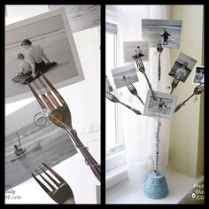 How to Recycle: Recycled Spoon and Fork as an Art make in Christmas colors for Card holder!!