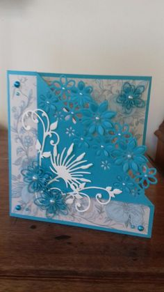 Flower 🌸 border die fancy fold Acetate Cards, Crafters Companion Cards, Birthday Cards For Women, Shaped Cards, Fancy Fold Cards, Embossed Cards, Marianne Design, Card Making Inspiration, Embossing Folder
