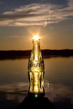 Ending a summer day with a coke.