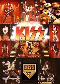 I had this giant KISS poster on my bedroom wall in high school.It was Huge! El Rock And Roll, Rock N Roll Music, Paul Stanley, Gene Simmons, Eric Singer, Heavy Metal, Kiss Merchandise, Broly Ssj3, Kiss Group