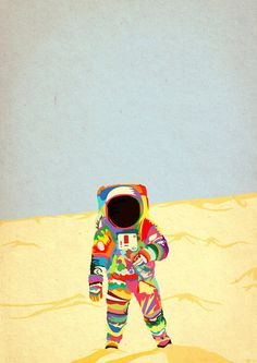"""On the moon"" - Jeremi Chenier / Graphic Designer Space Illustration, Astronauts In Space, Skateboard Design, Major Tom, Arte Popular, 6 Photos, Science Art, Illustrations And Posters, Art Drawings"