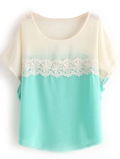 To find out about the Green White Short Sleeve Lace Chiffon Blouse at SHEIN, part of our latest Blouses ready to shop online today! Mode Style, Style Me, Lehenga, Chiffon Shirt, Lace Chiffon, White Chiffon, Sleeveless Blouse, Modelos Fashion, Looks Vintage