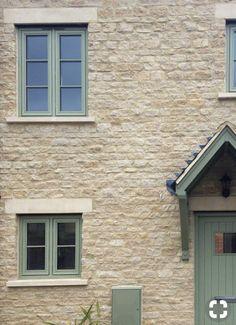 Exterior Window Frame Ideas Courtyards 47 Ideas For 2019 Porch Windows, Cottage Windows, Green Windows, Timber Windows, Casement Windows, House Windows, Windows And Doors, Cottage Exterior, House On The Rock