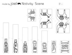 Made by Joel Paper City Nativity Scene Template Kids Craft 2