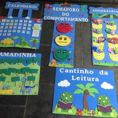 Kit sala de aula em EVA 5 Peças no Elo7 | Jumilanda Artes (B4186A) New Year's Crafts, Crafts For Kids, Sunday School Crafts, Classroom Decor, Ideas Para, Kids Rugs, Learning Activities For Kids, Classroom Arrangement, Preschool Door
