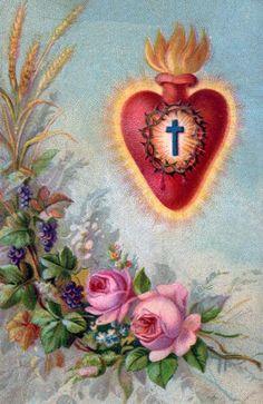 Sacred heart prayer card