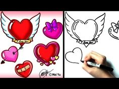 how to draw valentines day drawings
