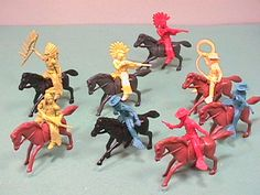 Loved playing cowboys and Indians , with plastic figures and dressing up too. 1960s Toys, Retro Toys, Vintage Toys, Childhood Toys, Childhood Memories, Comic Anime, Cowboys And Indians, Le Far West, Ol Days