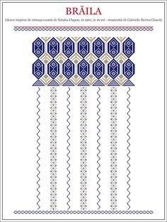 Semne Cusute: ie de la PRUT - ROMANIA, Braila Folk Embroidery, Shirt Embroidery, Cross Stitch Embroidery, Embroidery Patterns, Knitting Patterns, Sewing Patterns, Cross Stitch Borders, Cross Stitch Patterns, Folk Art