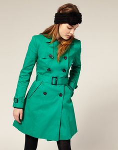I love coats with a belted waist