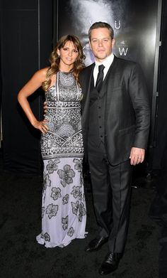 """Matt Damon Photos - Luciana Barroso (R) and actor Matt Damon attends the premiere of Universal Pictures' """"Jason Bourne"""" at The Colosseum at Caesars Palace on July 2016 in Las Vegas, Nevada. - Premiere of Universal Pictures' 'Jason Bourne' in Las Vegas Matt Damon Jason Bourne, Caesars Palace, Starred Up, Press Tour, Universal Pictures, Daily Photo, Celebs, Celebrities, Red Carpet"""