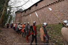La compagnie St George au château du Haut-Koenigsbourg