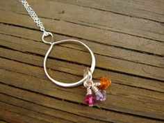 Sterling Silver Infinity Necklace with Swarovski Crystals