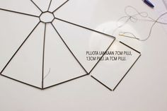 Magdan kotona: Diy uusi lamppu + ohje Embroidery Designs, Diy, Sewing, Home Decor, Wooden Chandelier, Pendant Light Fitting, Diy And Crafts, Home Decoration, Paper Crafting