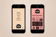 Website for The Primal Kitchen designed by Midday