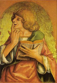 AutoreCarlo Crivelli Data1472 Tecnicatempera e oro su tavola Dimensioni28×15,5 cm UbicazionePinacoteca del Castello Sforzesco, Milano