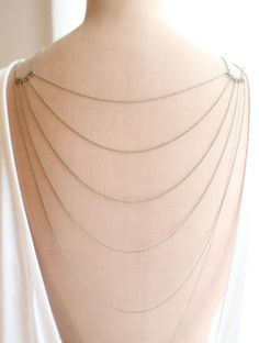 A perfect back necklace for vintage lace wedding dresses.