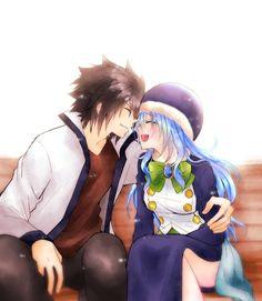 Fairy Tail Kids, Fairy Tail Juvia, Fairy Tail Gray, Fairy Tail Couples, Fairy Tail Anime, Otaku Anime, Manga Anime, Juvia And Gray, Cute Couple Art