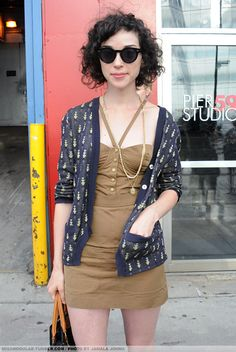 andicandothefrug:    31-Day St. Vincent challenge  Day 30 - Favorite St. Vincent outfit.  I'm a sucker for a good cardigan.    Am loving this cardi :)