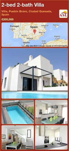 2-bed 2-bath Villa in Villa, Pueblo Bravo, Ciudad Quesada, Spain ►€205,000 #PropertyForSaleInSpain