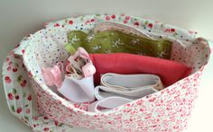baby doll diaper bag (with diapers, wipes, etc.)