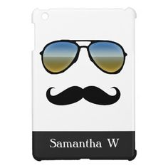 Funny Retro Sunglasses with Mustache Case For The iPad Mini