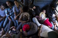 Crammed: Many of the migrants arriving in Austria and Germany today have made the perilous...
