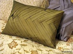 French braid pillow - with tutorial.