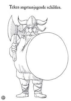 Misschien eens handig voor een opdrachtenblad Middle School Art, Art School, Finish The Drawing Worksheets, Vikings, Drawing Prompt, Viking Art, Creative Activities, Art Challenge, How To Train Your Dragon