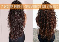 Rizos & Rizos: 7 Recetas naturales para el crecimiento y evitar la caida del cabello Curly Hair Tips, Curly Hair Styles, Bun Hairstyles, Pretty Hairstyles, Hair Repair, Crazy Hair, Curly Girl, New Girl, Hair Hacks