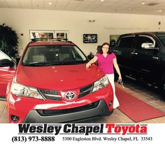 https://flic.kr/p/GYjfxW | Happy Anniversary to Jacqueline on your #Toyota #RAV4 from Steve Blank at Wesley Chapel Toyota! | deliverymaxx.com/DealerReviews.aspx?DealerCode=NHPF