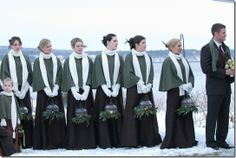 French's Point, Maine. I love this idea for a winter wedding