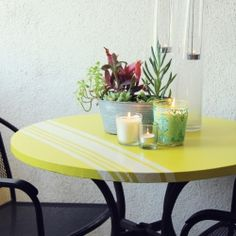 I want to do this...take an old patio table and customize it!!