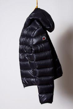 piumino black, light down jacket Goose Feel