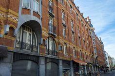Los edificios de la Citè Hellemans, casas sociales de estilo art noveau diseñadas por Emile Hellemans y Fernand Brunfaut