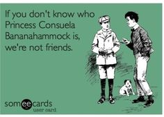 Princess Consuela Bananahammock!  Out of all my friends Jessica will understand the most!!