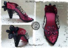 SVG FIle Template High Heel Shoe 1 & Box