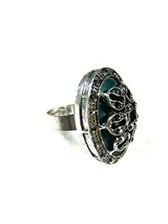 Fashion Ring, Emerald Crystal Antique Silver-Tone Cocktail Adjustable Ring Mogul Interior http://www.amazon.com/dp/B00Q9T5R9A/ref=cm_sw_r_pi_dp_w0fEub07RZBJ4