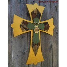 Mossy Oaks hand painted cross