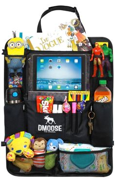 Buy DMoose Car Backseat Organizer for Kids with Touchscreen Tablet Holder, Neoprene Water Bottle Pockets, and Space Saving Storage, Seat Protector Kick Mat and Travel Support at Discounted Prices ✓ FREE DELIVERY possible on eligible purchases. Road Trip With Kids, Travel With Kids, Car Organization Kids, Organizing, Backseat Car Organizer, Best Car Seats, Seat Protector, Tablet Holder, Car Travel