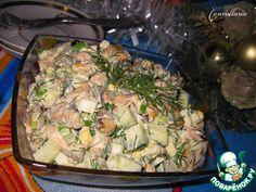 """Салат с мидиями """"Свежесть"""" - кулинарный рецепт"""