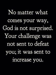 GOD IS NOT SURPRISED....AMEN