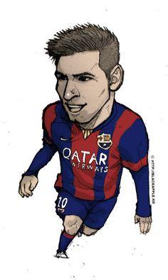 FC Barcelona No.10 Lionel Messi fan art