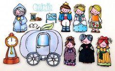 Cinderella Felt Board Story Set by byMaree, $20.00 USD