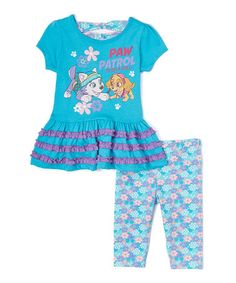 This Aqua PAW Patrol Dress & Turquoise Leggings - Toddler by PAW Patrol is perfect! #zulilyfinds